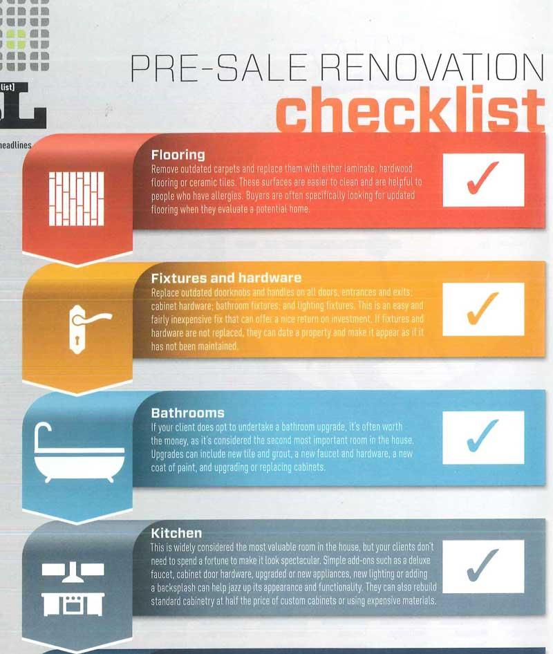 Pre-sale Renovation Checklist