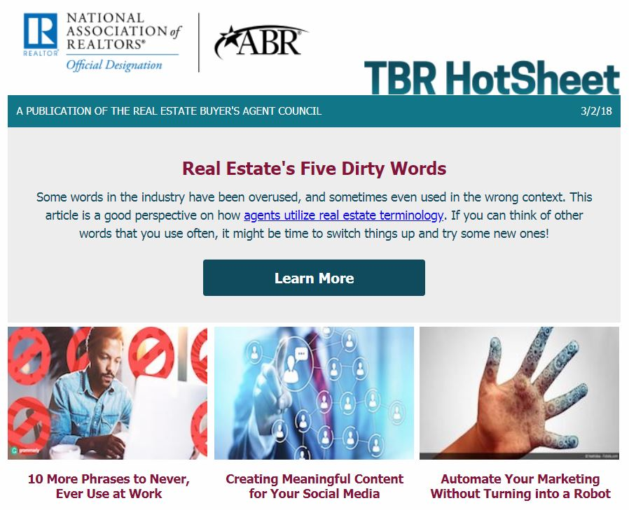 Real Estate's Five Dirty Words